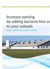 Increase earning by adding bacteria free water to your animals