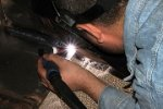 Scale prevention in welding plants