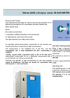 NO3 Online UV Nitrate Analyzer  Brochure