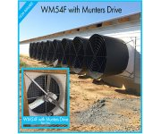 WM54 Fiberglass Fan -  Now with Munters Drive!