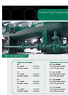 High Pressure Separators Data Sheet