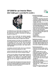 PALAS - CIF 2000 - For Car Interior Filters Brochure