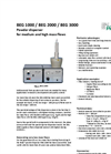 PALAS - BEG 1000 / BEG 2000 / BEG 3000 Series - Powder Disperser For Medium And High Mass Flows Brochure