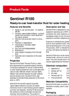 Sentinel - Model R100 - Ready-to-Use Heat-Transfer Fluid for Solar Heating Systems - Brochure