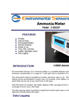 Model Z-800XP - Portable Desktop Ammonia Monitor - Brochure