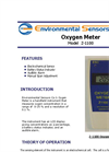 ESC - Model Z-1100 - Hand Held Oxygen Monitor - Brochure