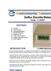 Model Z-1300XP - Portable Desktop Sulfur Dioxide Monitor - Brochure