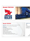 Model PW3560-820 & NF4560-1050. - Full Eject Closed-Door Horizontal Balers- Brochure