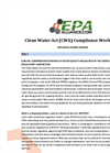 Clean Water Compliance Workshop Agenda Brochure
