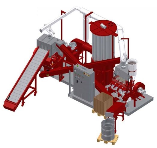 Redoma - Model Powerkat A - Cable Recycling Plant - Up to 700 kg/h