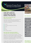 Gasplasma Treatment of Construction & Demolition Waste Datasheet