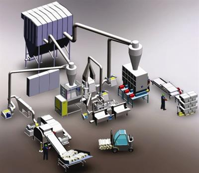 Makron Fibretec - Model 1000 - Recycled Cellulose Insulation Production Line, Economical system