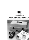 DR 820 Colorimeter Procedures Manual