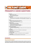 One Planet Leaders Brochure (PDF 851 KB)