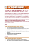 One Planet Leaders Pathway Brochure (PDF 355 KB)