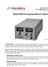 Tekran Mode - Model 2500 - Cold Vapor Atomic Fluorescence Spectrophotometer (CVAFS) Mercury Detector - Brochure