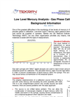 Low Level Mercury Analysis - Gas Phase Calibration Background Information - Brochure