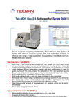 Tek-MDS Rev:2.5 Software for Series 2600 Systems - Brochure