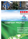 ESCO International Profile-2013 Brochure
