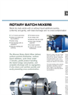 Munson Rotary Batch Mixers