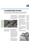Fluidized bed Mixers