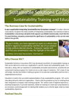 Sustainability Training and Education Brochure