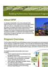 Building Performance Improvement Program Brochure