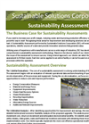 Sustainability Assessment Services Brochure