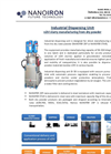 Industrial Dispersing Unit: nZVI slurry manufacturing from dry powder