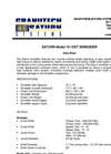 Saturn 72-72XT Shredder Datasheet