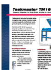 Taskmaster - TM1600 - Twin Shaft Shredder For Solids/Liquids and Institutional Waste - Brochure