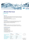 HW water filter house Serie 213 - Brochure