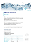 HW Water Filter House Serie 113 - Brochure