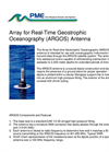 Array For Real-Time Geostrophic Oceanography (ARGOS) Antenna Datasheet
