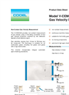 Model V-CEM5100 - Gas Velocity Monitor Brochure