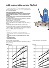 Technical Data Sheet - Submersible Aerator Type ABS TA/TAK 60 Hz - Brochure