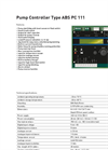 ABS - PC 111 - Single-Pump Controller Brochure