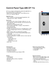 ABS - CP 114 - Control Panel Brochure