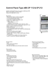 ABS - CP 112 and 212 - Control Panels Brochure