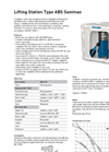 Type ABS Sanimax - Lifting Station Datasheet