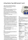 Type ABS Sanisett 1 and 2 - Lifting Station Datasheet