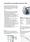 Piranhamat - ABS - 1002 - Lifting Station Datasheet
