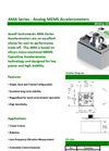 AMA Series Analog MEMS Accelerometers Brochure
