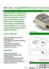 AMV Series Analog MEMS Inclinometer Brochure