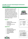 Model LCF-300- - Precision Fluid Damped Inclinomet Brochure