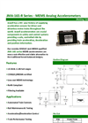 Model JMA-165-R Series - Analog Accelerometers without Heater Brochure