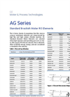 GE AG Series - Brackish Water Membranes - Specification Sheet