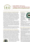 Sage Prime - Gas Thermal Mass Flow Meter Brochure