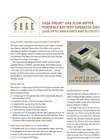 Sage - Model 200 - Thermal Flow Meter Brochure