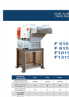 2 Shaft Shredder Datasheet F 515 - F 615 - F1015 - F1315 Power 15 HP | SatrindTech Srl